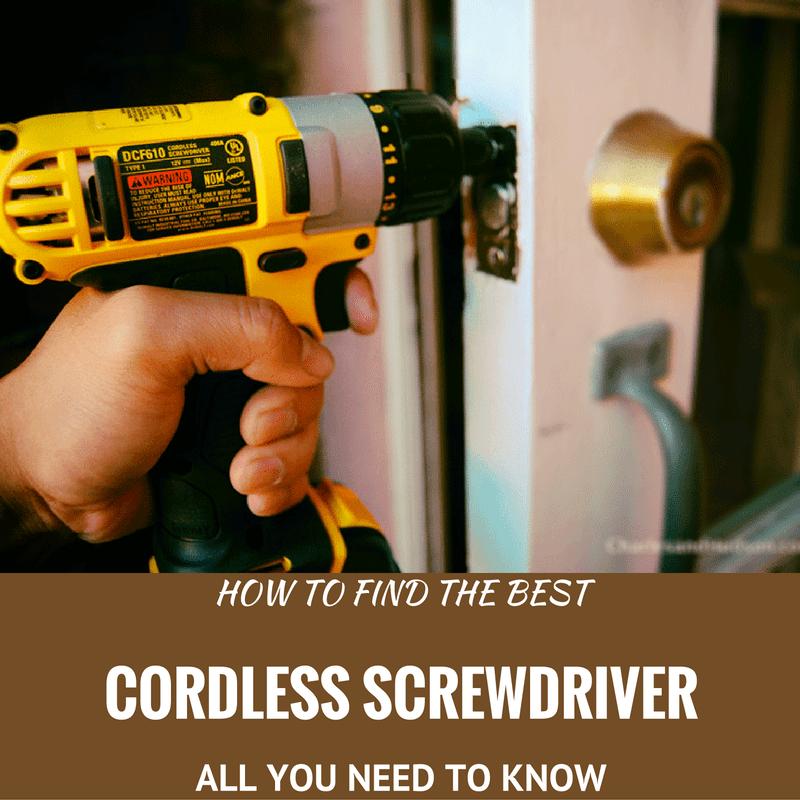 best cordless screwdriver