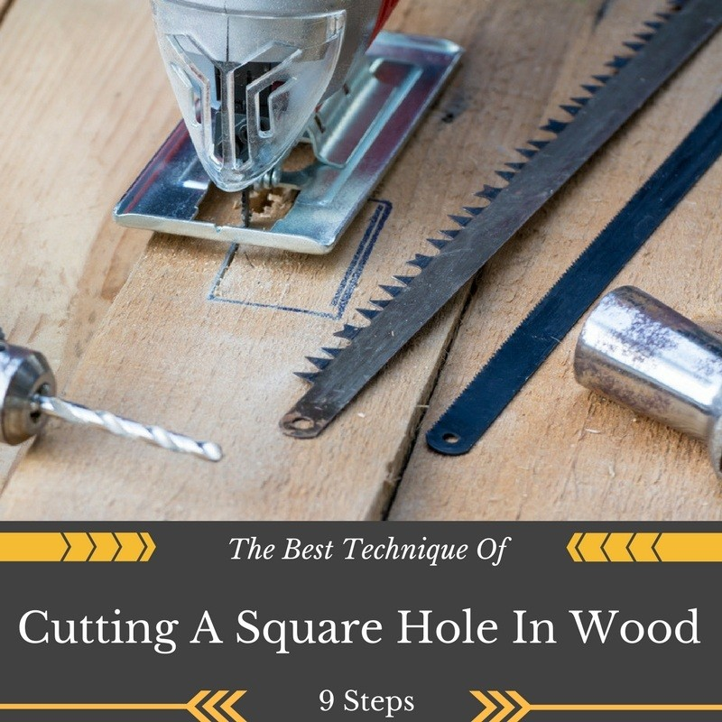 how to cut a square in wood