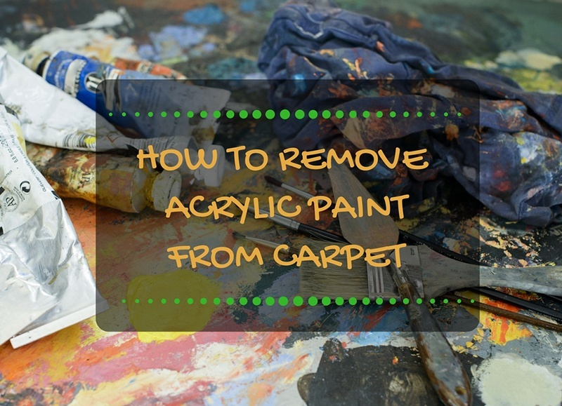 how to get acrylic paint of carpet