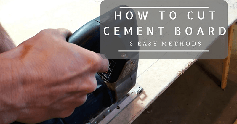 how to cut cement backer board 3 easy methods. Black Bedroom Furniture Sets. Home Design Ideas